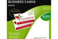 Landscaping Business Card Template New Office Depot