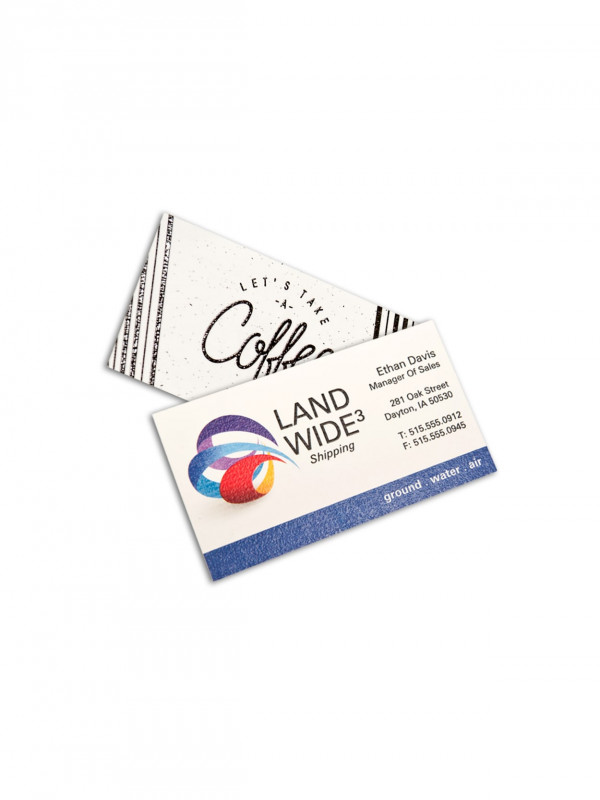 Landscaping Business Card Template Unique Custom Full Color Raised Print Standard White Business Cards Square Corners 1 Side Box Of 250 Item 505870