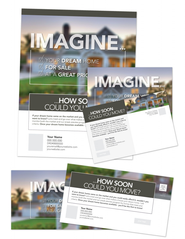 Loyalty Card Design Template Awesome Real Estate Marketing Templates Imagine the Right Home