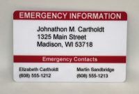 Medical Alert Wallet Card Template Unique Cheap Emergency Card Template Find Emergency Card Template