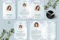 Memorial Card Template Word Awesome Funeral Program Template