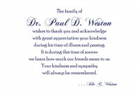 Memorial Cards for Funeral Template Free Awesome Funeral Acknowledgement Poems