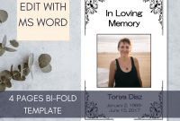 Memorial Cards for Funeral Template Free Unique Simple Funeral Program Template Memorial Program Template