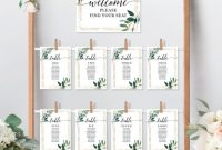 Michaels Place Card Template Awesome Garden Greens Seating Chart Table Number Signs In 2020