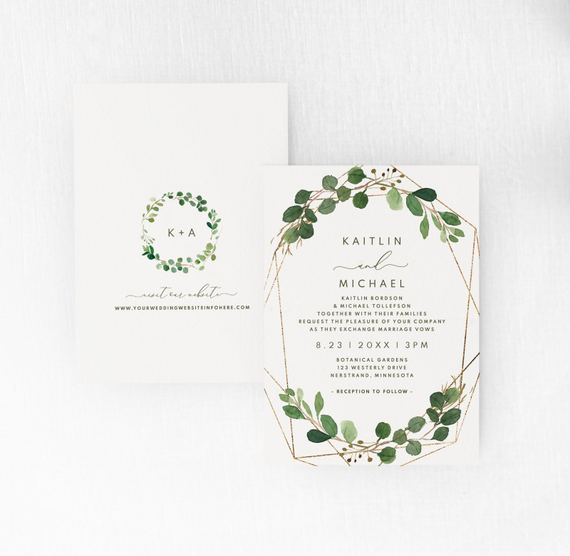 Michaels Place Card Template Awesome Wedding Invitation Template Suite Set 5 X 7 Geometric