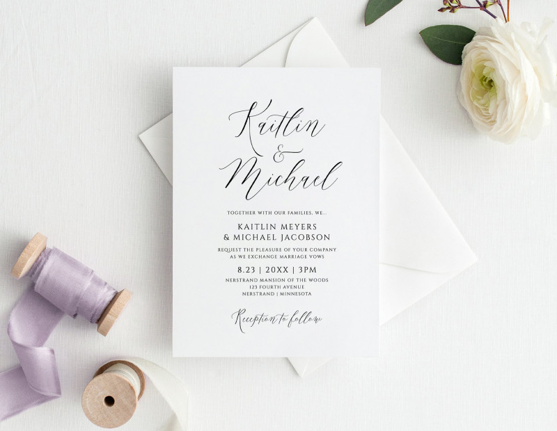 Michaels Place Card Template New Editable Color Wedding Invitation Template 5 X 7 Modern