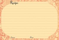 Microsoft Word Recipe Card Template Awesome Recipe Card Template Pinterest