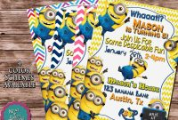 Minion Card Template Awesome Despicable Me Minion Birthday Party Monsterfinds Minion