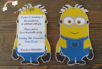 Minion Card Template Awesome Diy Birthday Invitation Templates