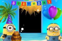 Minion Card Template Unique Happy Birthday Transparent Frame with Minions Convite