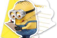 Minion Card Template Unique Minion Party Invitation Template