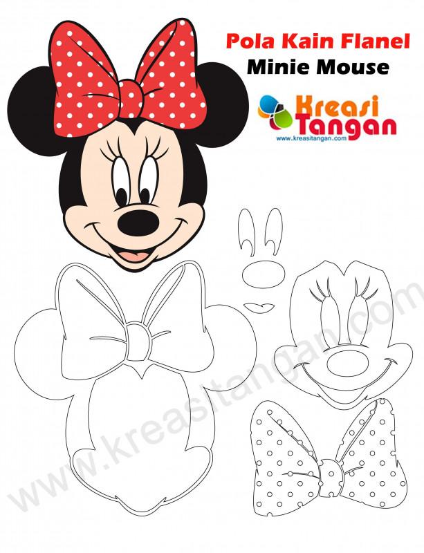 Minnie Mouse Card Templates New Pin Oleh Mazaya Di Pola Mickey Mouse Kain Flanel Pola