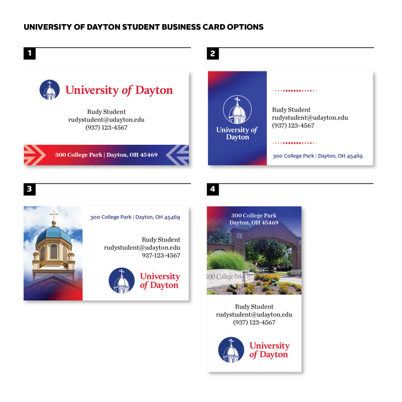 Modern Business Card Design Templates Awesome Business Cards University Of Dayton Ohio