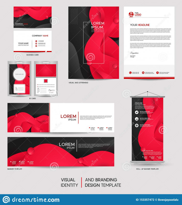 Modern Business Card Design Templates New Modern Stationery Mock Up Set And Visual Brand Identity With