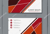 Modern Business Card Design Templates Unique Modern Geometric Style Visiting Card Vector Stock Vector