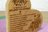 Mom Birthday Card Template Unique Personalised Mothers Day or Birthday Gift for Mum Mummy