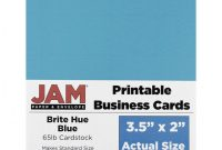 Ms Word Business Card Template Awesome Jam Paper Printable Business Cards 3 12 X 2 Blue 10 Cards