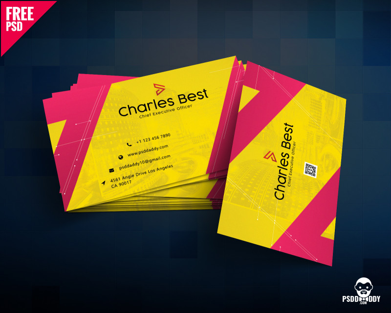 Name Card Design Template Psd Awesome 150 Free Business Card Psd Templates
