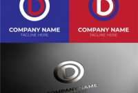 Name Card Photoshop Template Unique Initial Od Letter Logo Design Free Vector