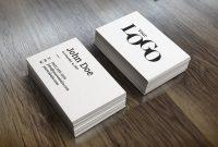 Name Card Template Photoshop Unique Visitenkarte Mockup Bilder Kostenlos Drucken