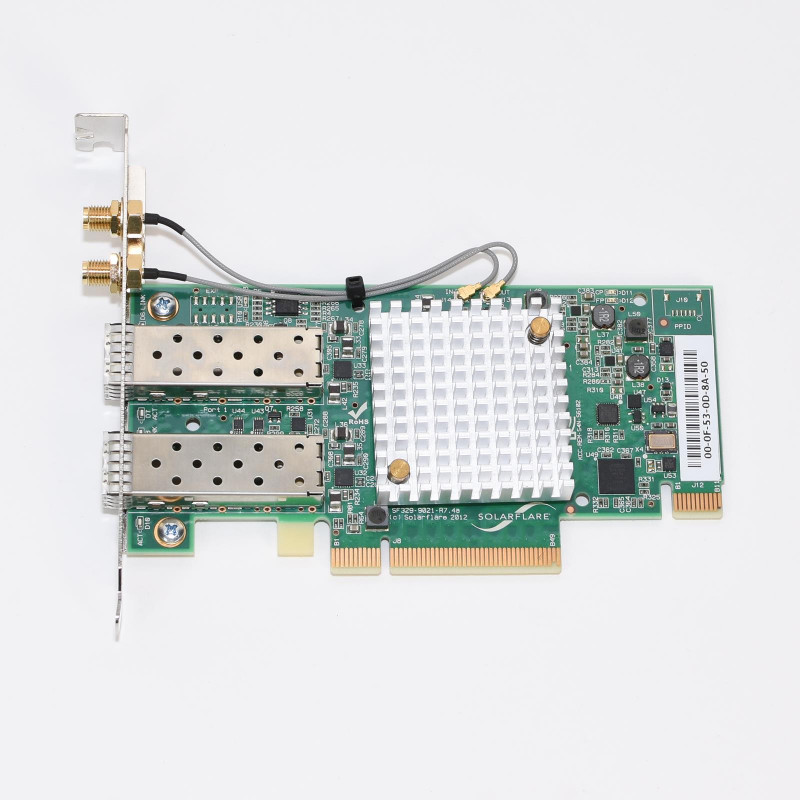 Networking Card Template Awesome Details About Solarflare Sfn6322f Dual Port 10gb S Pci E 3 0 Ethernet Enterprise Sever Adapter