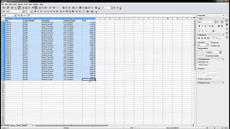 Openoffice Business Card Template New Openoffice Spreadsheet Open Office Calc Beginners Tutorial