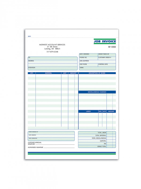Order form with Credit Card Template Unique Custom Carbonless Business forms Pre formatted Job Invoice forms Ruled 8 1 2 X 11 2 Part Box Of 250 Item 674001