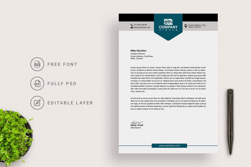 Photography Business Card Template Photoshop New Clean Business Letterhead
