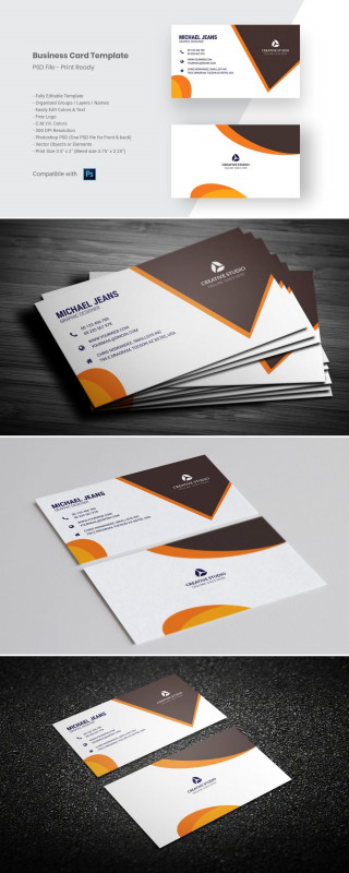Photoshop Business Card Template With Bleed Awesome Modern Business Card Template Business Card Template