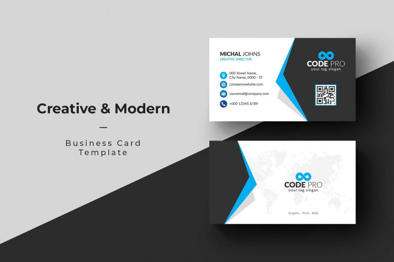Photoshop Business Card Template With Bleed New Business Card Creative Illustrator Templates Creative Market