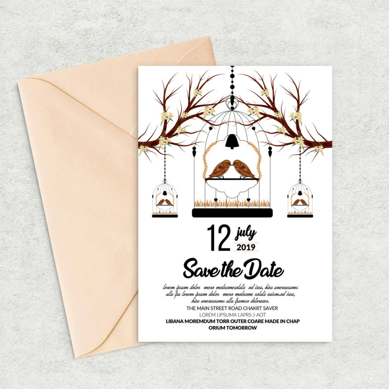 Photoshop Business Card Template with Bleed Unique Save the Date Card Template by Designhub thehungryjpeg Com