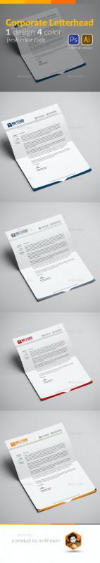 Photoshop Cs6 Business Card Template Unique Letterhead Design Template By Mrikhokon Graphicriver