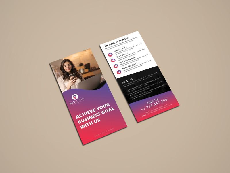 Photoshop Name Card Template New Corporate Rack Card By Rajib Das On Dribbble