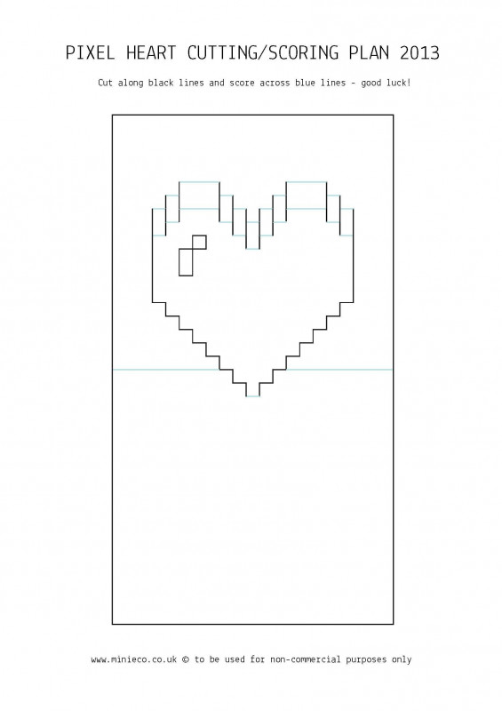 Pixel Heart Pop Up Card Template Unique Pop Up Card Templates Rxy52 Agbc