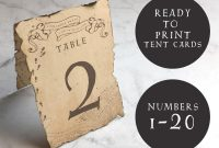 Place Card Setting Template Unique Table Number Template Tent Card Printable Harry Potter