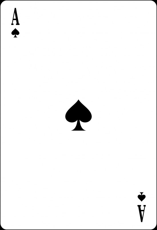 Playing Card Design Template Awesome Ace Of Spades Wikipedia