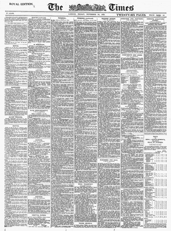 Pledge Card Template For Church New Archive Page Viewer November 16 1923 The Times