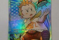 Pokemon Trainer Card Template New Pokemon Card Trainer sophocles Ultra Rare 146 147 Burning