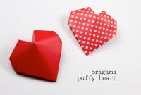 Pop Up Box Card Template Unique origami Puffy Heart Instructions