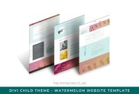 Popup Card Template Free Unique Watermelon Divi Child Website Template