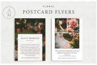 Post Cards Template Unique Floral Postcard Flyers Postcard Postcard Template Stock