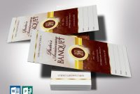 Prayer Card Template for Word Awesome Brown Gold Clergy Banquet Ticket Word Publisher Template