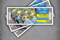 Printable Escort Cards Template Awesome Bar Mitzvah Football Ticket Place Cards Tented Placecards Football Wedding Place Cards University themed Ucla Bruins Seating Cards