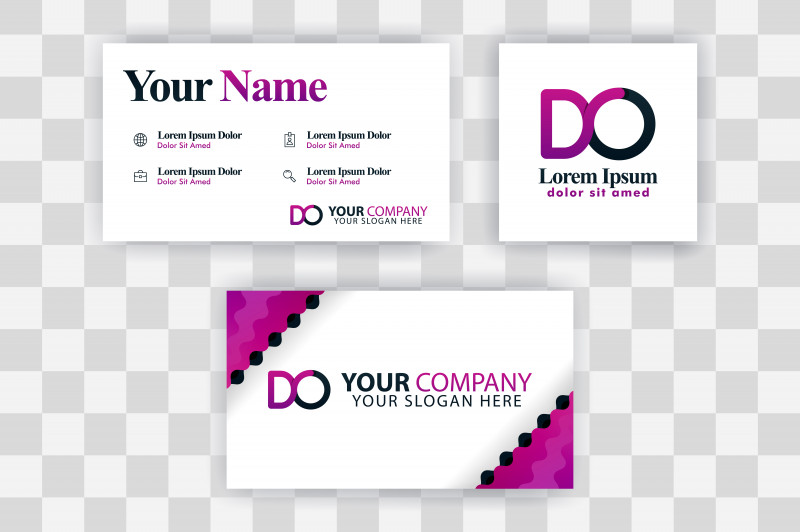 Printable Holiday Card Templates Awesome Od Letter Logo Business Card Template