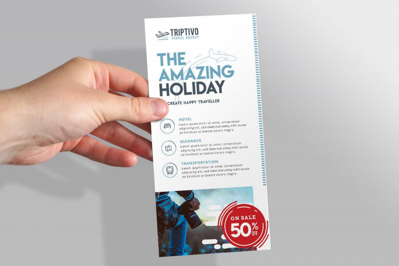 Printable Holiday Card Templates Unique Free Rack Card Template Addictionary