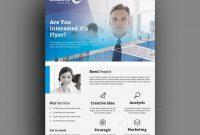 Psd Visiting Card Templates New Rotterdam Modern Business Corporate Flyer Template 001417