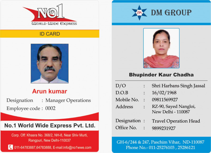 Pvc Id Card Template Awesome Id Cards Identitycards