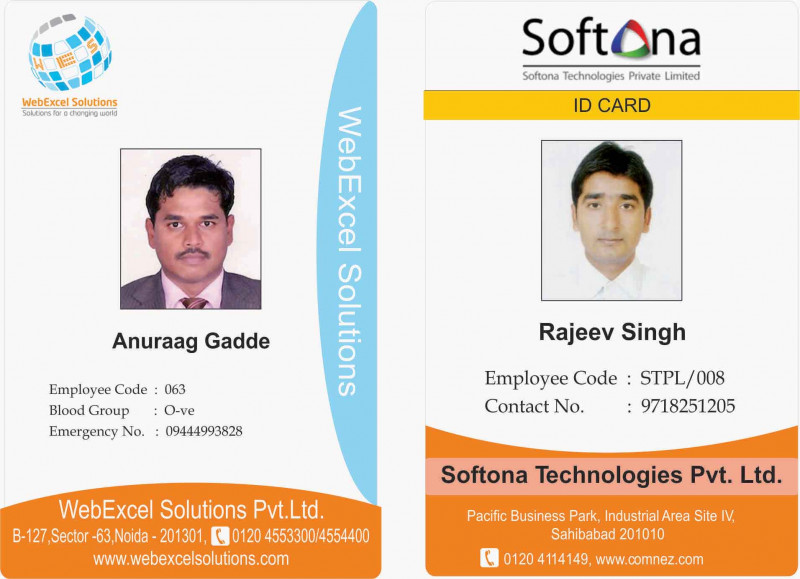 Pvc Id Card Template Unique Id Cards Identitycards