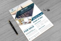 Real Estate Agent Business Card Template Awesome Real Estate Print Ready Flyer Design Template In 2020