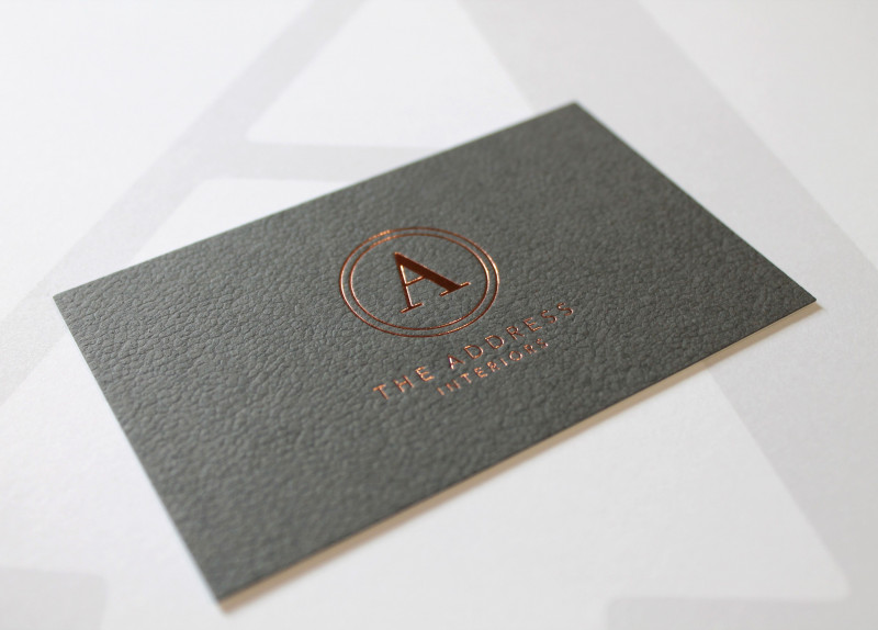 Real Estate Business Cards Templates Free New Morrocco Embossed Card With Rose Gold Foil Embossed